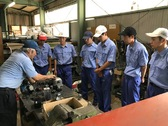 工務部による電気制御実習 八女工業高校インターンシップ